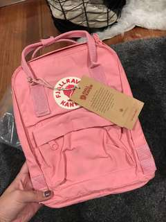NEW with tags Fjallraven Kanken Pink Mini Backpack