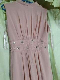 Peach Long gown