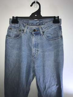 High-waisted Distressed Vintage Mom Jeans