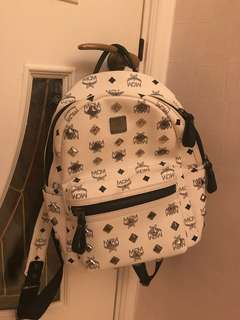 MCM Backpack White Size S