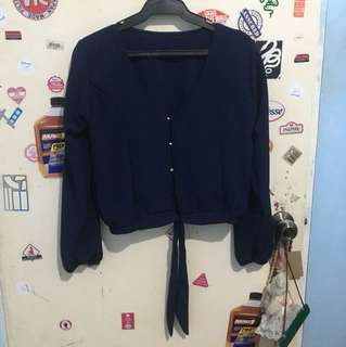 Tie Long sleeves Crop Top