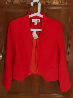 Forever 21 career red blazer brand new love Bonito Zara