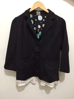 Black Coat with Lace