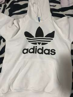 Adidas white hoodie