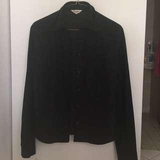 Black Button Up (Glitter)