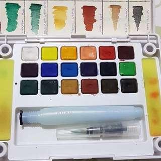 18 Colors Sakura Koi Watercolor Kit