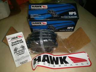 Hawk HPS (High Performance Street) rear brake pads HB695 F.609