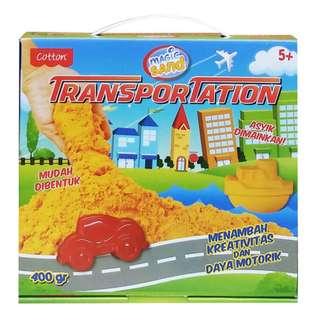 Mainan Pasir Kinetik / Pasir Ajaib MAGIC SAND TRANSPORTATION - 49026