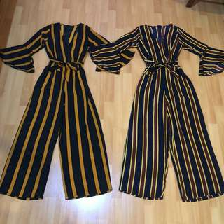 STRIPES LONG JUMPSUIT
