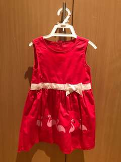 Unused flamingo dress for babies 24-36 months