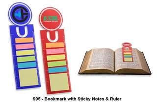 [Wholesale] Bookmark with Sticky Notes & Ruler