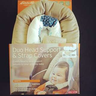 Head Support for Stroller and Cover for strap