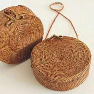 20cm Bali Rattan Bag