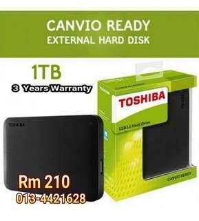 Toshiba Canvio 1TB External HDD