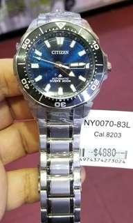 CITIZEN 自動 鈦金屬…7折售!男裝潛水錶