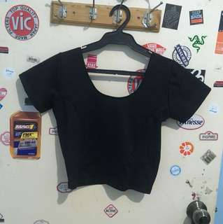 Black Silk Crop Top