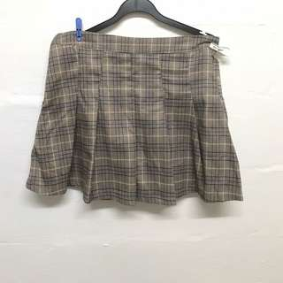 Checkered Skirt (PLUS SIZE)