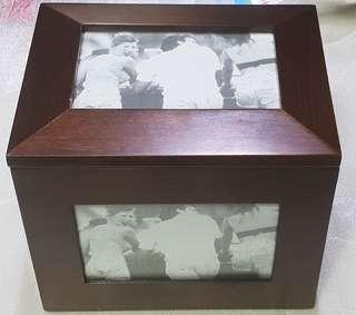 Brand New Photo Display Box Walnut Finish