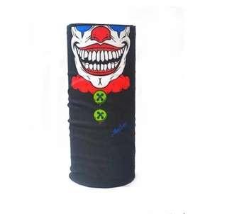 🆕! Clown 🤡 Mask Scarf Half Face on Neck 2 style Bandana  #OK                                                                        MTB/ Motard / Mountain Bike /Road Bike /Enduro /Downhill /Freeride/ Bicycle /Bmx /Escooter