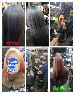 Senior Stylist Hair cut,Rebonding,Digital perm,Loreal hair color, highlight,ombre services etc. Loreal Rebonding/Perming for short hair @ $88.