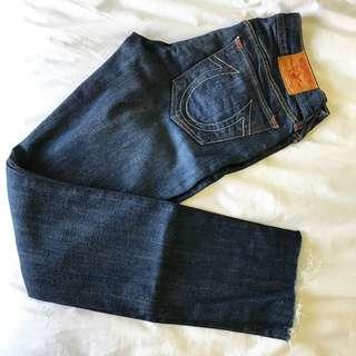 True Religion Denim Cropped (Cut off) skinny jeans