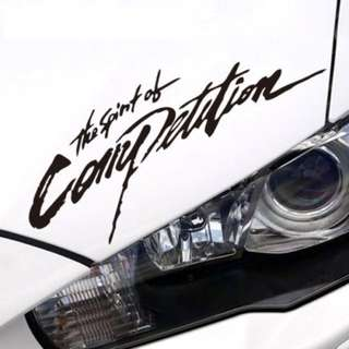 Ralliart The Spirit of Competition Sticker for Inspira, Lancer & ASX