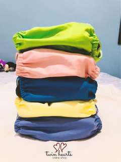 Naughty Baby Cloth diaper - Plain Colors