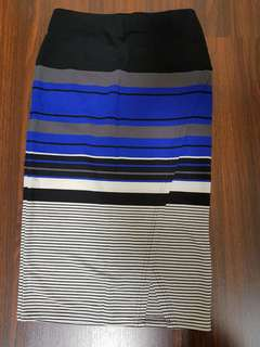 Almost new stripe skirt knee length