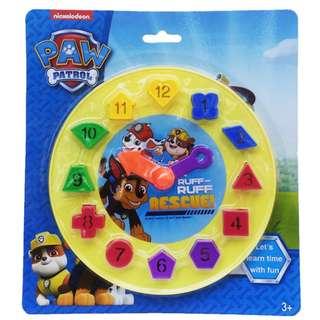 Mainan Bayi PAW PATROL CLOCK SHAPE - 02406