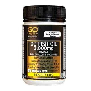 Fish Oil 2000mg (230 Capsules) + DHA & EPA Odourless Softgel <<New Zealand>>