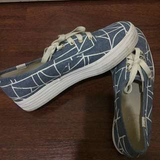 Authentic Keds Triple Abstract Dark Blue Size 38/7.5
