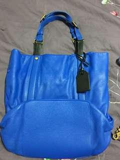 Rabeanco Handbag Blue Authentic