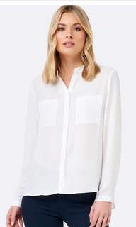 Forever New Peplum back blouse/shirt AU Size 6 almost brand new RRP $80