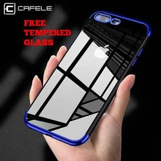 Casing Case Original Iphone Luxury half Plating Premium