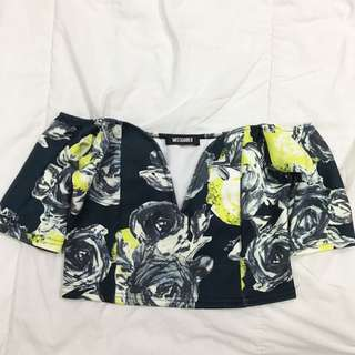 Printed Off-shoulder