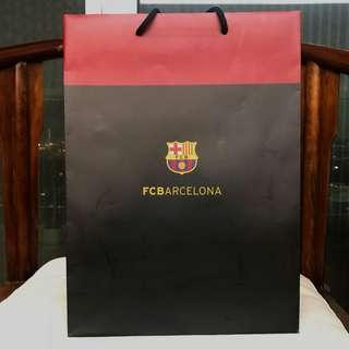 FC Barcelona paper bag 巴塞隆拿球會紙袋