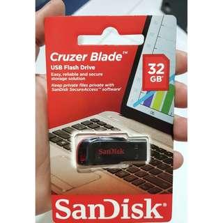 SanDisk 32GB USB Flash Drive Cruzer Blade