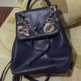 Charles & Keith Embroidered Backpack
