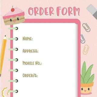 Order Form🌸