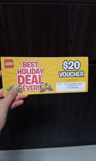 Lego voucher $20 at no min purchase