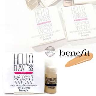 Benefit hello flawless ! Oxygen wow spf 25 Sample Size 3 ml shade ivory