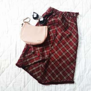 🌈BOY BIS plaid high-waisted skirt