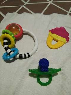 Teether, rattel, carrier