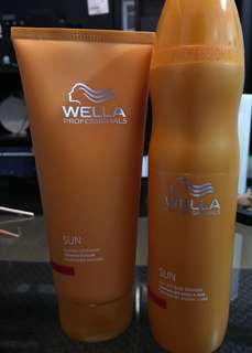 Wella Sun shampoo and conditioner