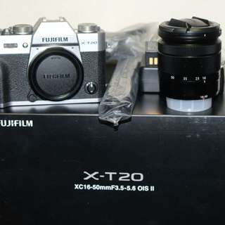 Fujifilm x-t20 with 16-50lens 100% new