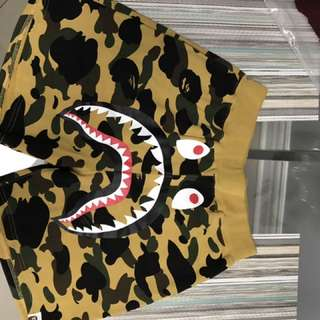 Authentic bape shark shorts