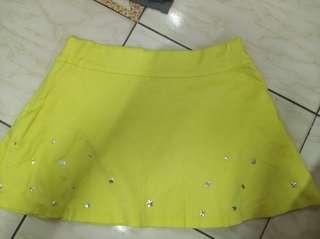 🚚 短裙,黃色,可愛,迷你裙
