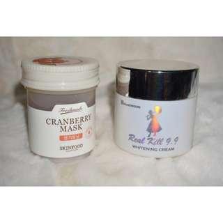 Skin Food Cranberry Mask & RA & Goowoori Whitening Cream