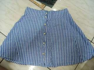 🚚 裙子,藍色,牛仔,短裙,學生