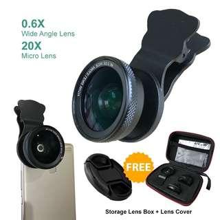 Universal Wide Angle Micro Camera Clip Lens